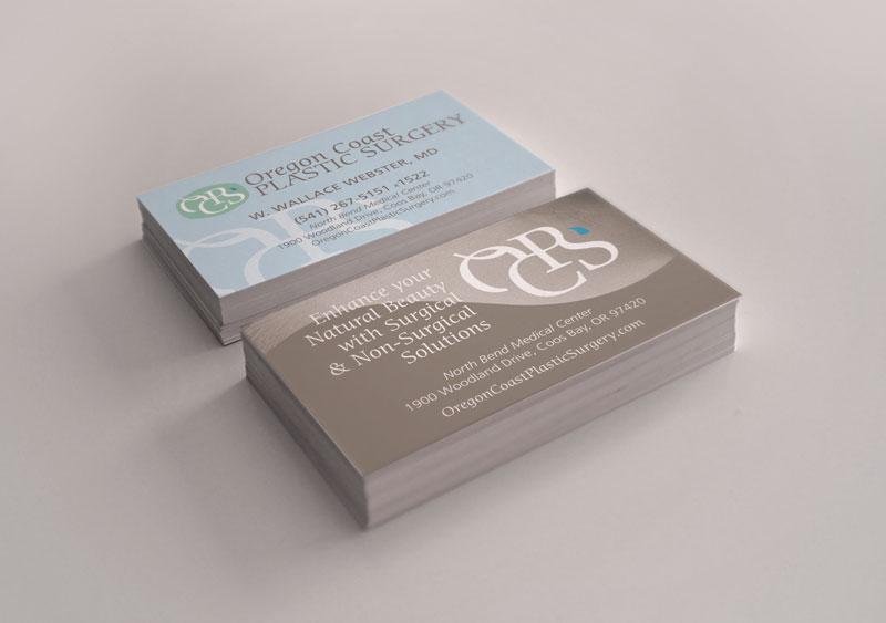 Oregon coast plastic surgery business cards colourmoves